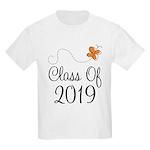 Class of 2019 Butterfly Kids Light T-Shirt