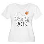 Class of 2019 Butterfly Women's Plus Size Scoop Ne