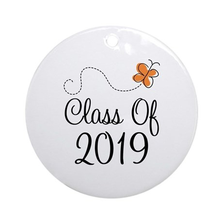 Class of 2019 Butterfly Ornament (Round)