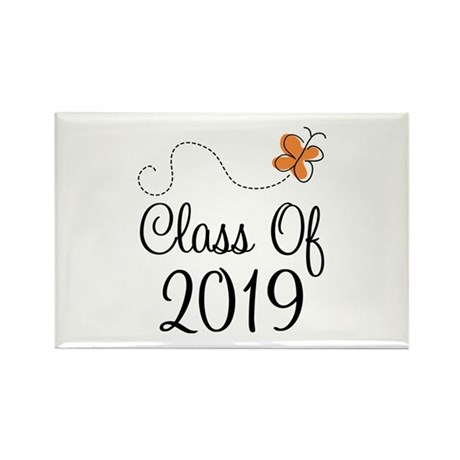 Class of 2019 Butterfly Rectangle Magnet