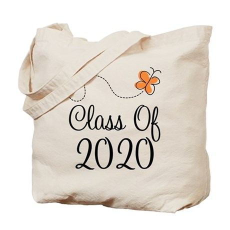 Class of 2020 Butterfly Tote Bag
