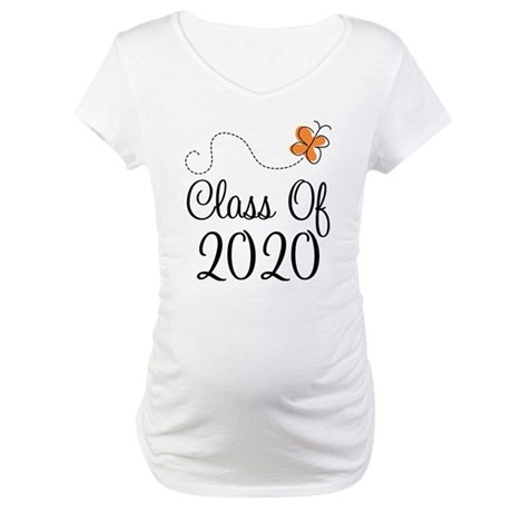 Class of 2020 Butterfly Maternity T-Shirt