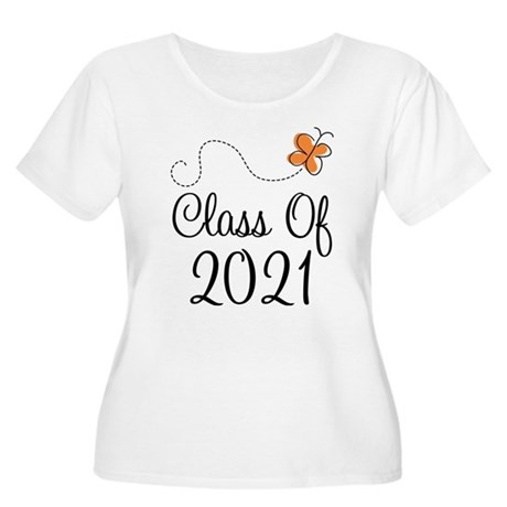 Class of 2021 Butterfly Women's Plus Size Scoop Ne