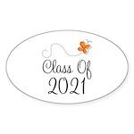 Class of 2021 Butterfly Sticker (Oval)