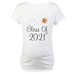 Class of 2021 Butterfly Maternity T-Shirt