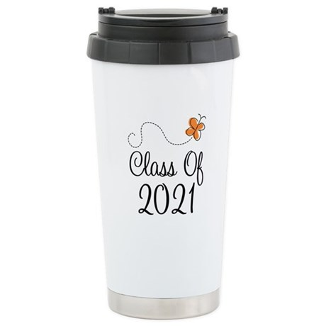 Class of 2021 Butterfly Stainless Steel Travel Mug