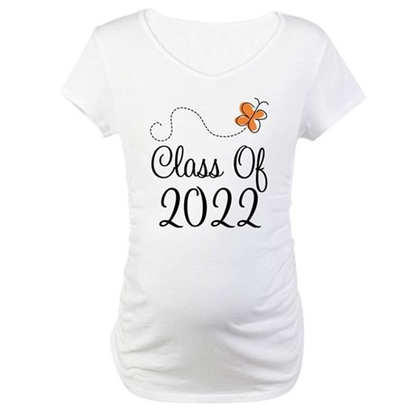 Class of 2022 Butterfly Maternity T-Shirt