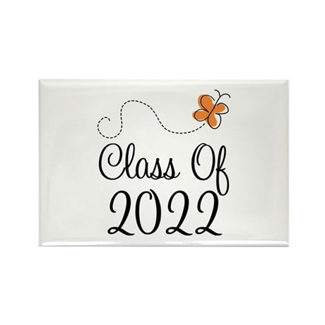 Class of 2022 Butterfly Rectangle Magnet