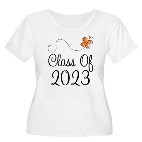 Class of 2023 Butterfly Women's Plus Size Scoop Ne