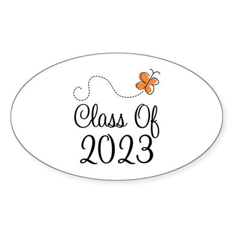 Class of 2023 Butterfly Sticker (Oval)