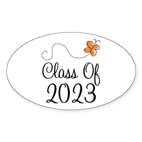 Class of 2023 Butterfly Sticker (Oval 50 pk)