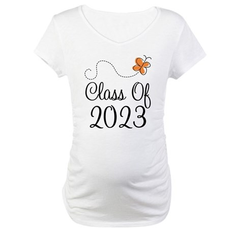 Class of 2023 Butterfly Maternity T-Shirt