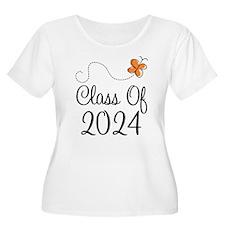 Class of 2024 Butterfly T-Shirt