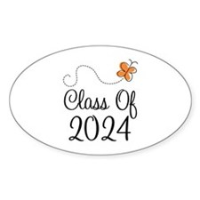 Class of 2024 Butterfly Decal
