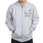Class of 2024 Butterfly Zip Hoodie