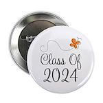 "Class of 2024 Butterfly 2.25"" Button"
