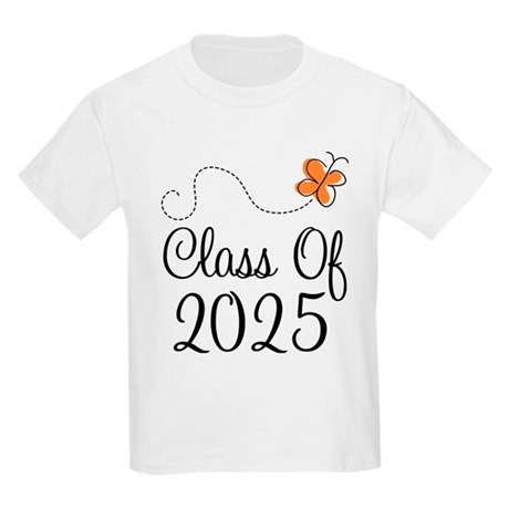 Class of 2025 Butterfly Kids Light T-Shirt