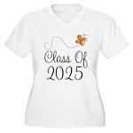 Class of 2025 Butterfly Women's Plus Size V-Neck T