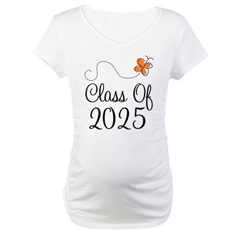 Class of 2025 Butterfly Maternity T-Shirt