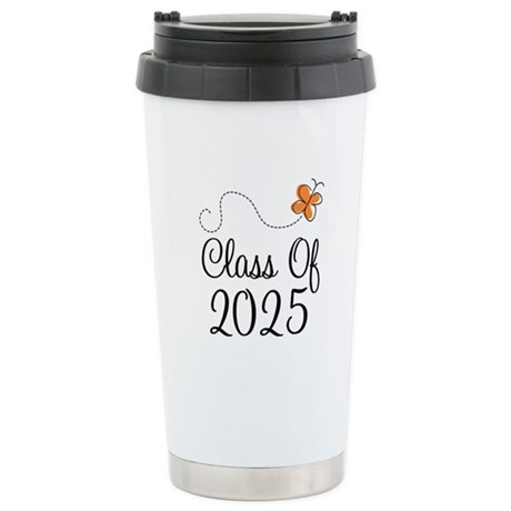 Class of 2025 Butterfly Stainless Steel Travel Mug