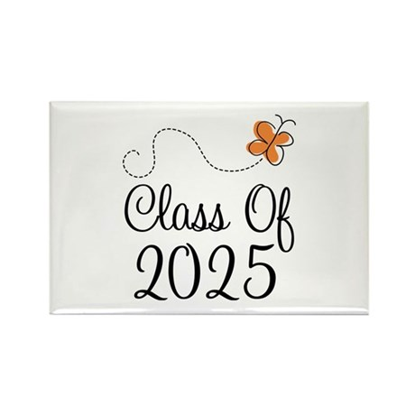 Class of 2025 Butterfly Rectangle Magnet