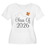 Class of 2026 Butterfly Women's Plus Size Scoop Ne
