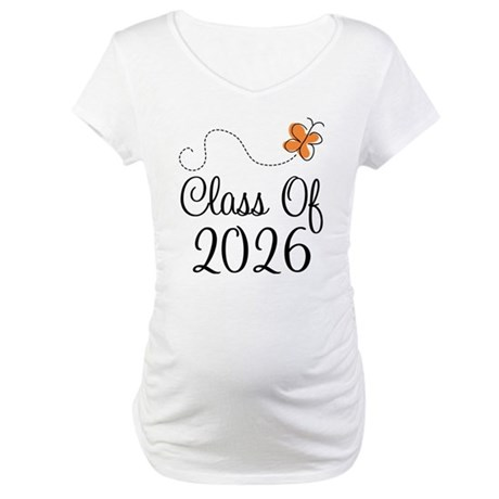 Class of 2026 Butterfly Maternity T-Shirt