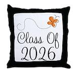 Class of 2026 Butterfly Throw Pillow