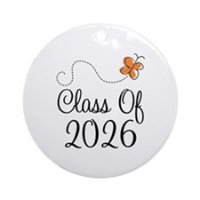 Class of 2026 Butterfly Ornament (Round)