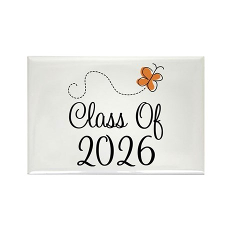 Class of 2026 Butterfly Rectangle Magnet