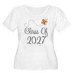 Class of 2027 Butterfly Women's Plus Size Scoop Ne