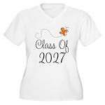 Class of 2027 Butterfly Women's Plus Size V-Neck T