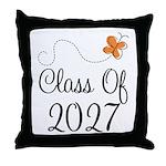 Class of 2027 Butterfly Throw Pillow