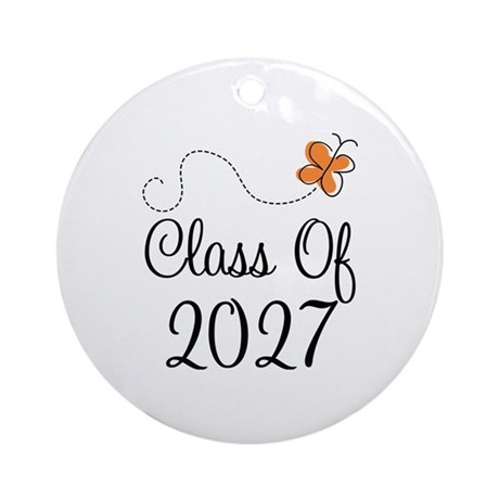 Class of 2027 Butterfly Ornament (Round)