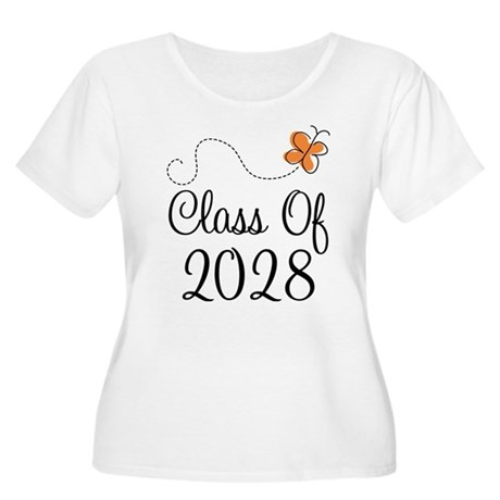 Class of 2028 Butterfly Women's Plus Size Scoop Ne
