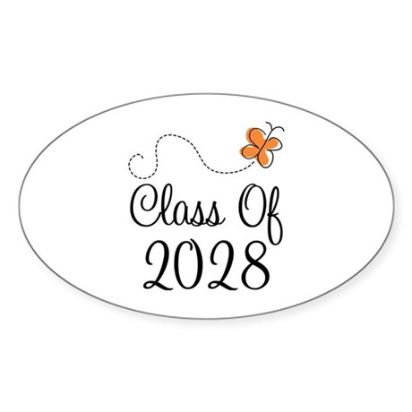 Class of 2028 Butterfly Sticker (Oval)