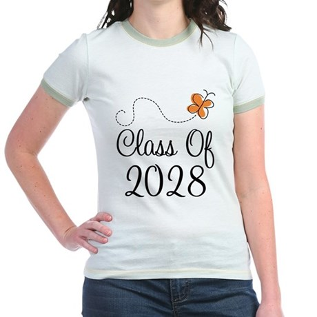 Class of 2028 Butterfly Jr. Ringer T-Shirt