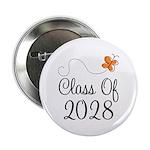 "Class of 2028 Butterfly 2.25"" Button"