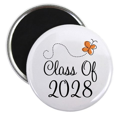 Class of 2028 Butterfly Magnet