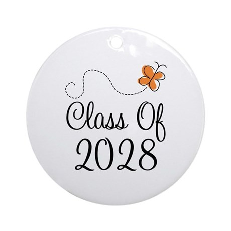 Class of 2028 Butterfly Ornament (Round)