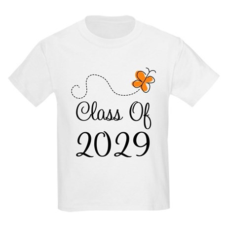 Class of 2029 Butterfly Kids Light T-Shirt