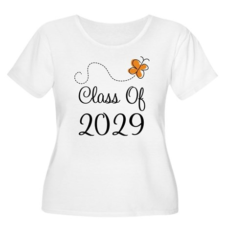 Class of 2029 Butterfly Women's Plus Size Scoop Ne