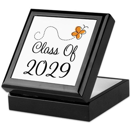 Class of 2029 Butterfly Keepsake Box