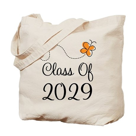Class of 2029 Butterfly Tote Bag