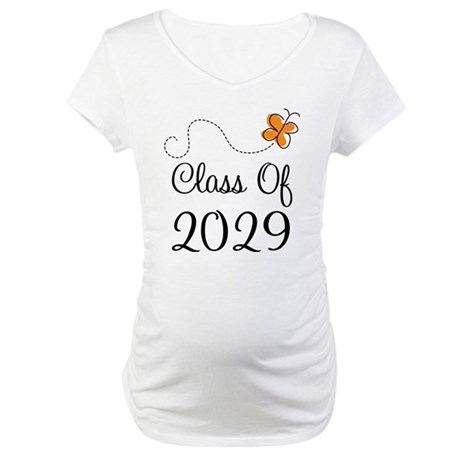 Class of 2029 Butterfly Maternity T-Shirt