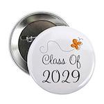 "Class of 2029 Butterfly 2.25"" Button"