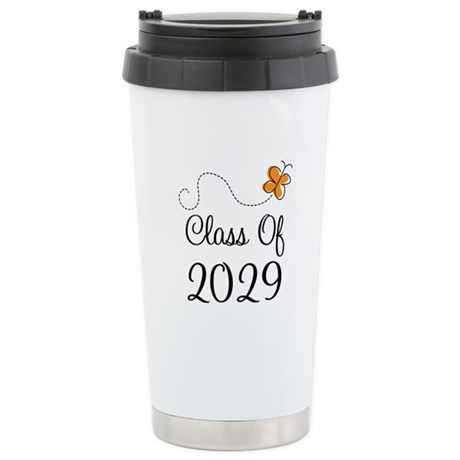 Class of 2029 Butterfly Stainless Steel Travel Mug