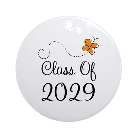 Class of 2029 Butterfly Ornament (Round)