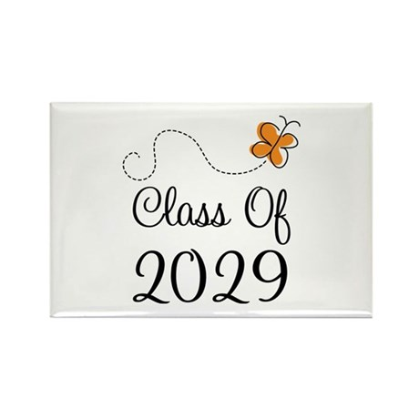 Class of 2029 Butterfly Rectangle Magnet