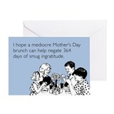 Mediocre Mother's Day Brunch Greeting Card